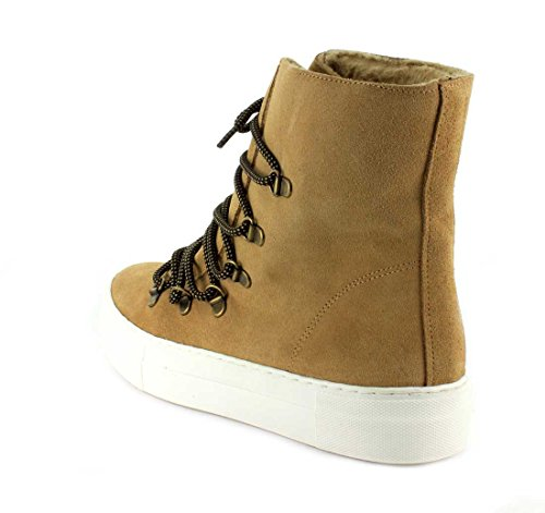 Jeffrey Campbell Womens Cimone F Sneaker Sabbia Scamosciata