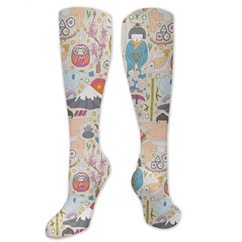 Woman Sumo Wrestler (UbsuePnxe Sushi Mount Fuji Sumo Wrestler Compression Socks for Men & Women - Best for Running Athletic Pregnancy and)