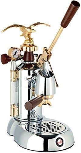 la Pavoni Expo 2015 EXP Independiente Máquina espresso Cromo, Oro 1,6 L 16 tazas Semi-automática - Cafetera (Independiente, Máquina espresso, 1,6 L, De café molido, 1000 W, Cromo, Oro): Amazon.es: Hogar