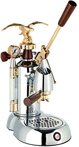 la Pavoni Expo 2015 EXP Independiente Máquina espresso Cromo, Oro ...
