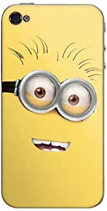Zing Revolution MS-DMT340133 Despicable Me 2 - Goggle Head 2 Cell Phone Cover Skin for iPhone 4/4S - Retail Packaging - Multicolored