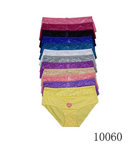 Violas Secret 12 Pack Women Panties Cotton Underwear Plus Size Brief S M L XL XXL 3XL 4XL