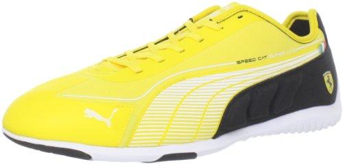 PUMA Speed Cat Superlt Low Ferrari Fashion Sneaker,Dandelion/White/Black,12 US Men's/13.5 D US - Ferrari Yellow Black And