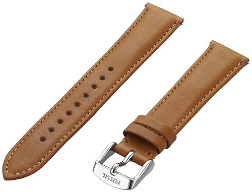 (Fossil Women's 18mm Leather Watch Band Color: Brown)