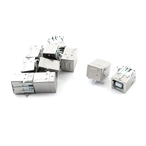 Amazon.com: eDealMax Impresora PC Puerto USB 2.0 Piezas Tipo ...