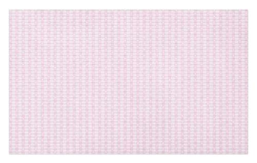 (Lunarable Checkered Doormat, Romantic Tartan with Hearts Love Theme Pastel Girly Tones Princess Kids, Decorative Polyester Floor Mat with Non-Skid Backing, 30 W X 18 L Inches, Pink White)