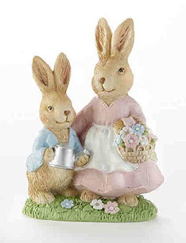 Delton Products 6.3 Inches Resin Petite Mom-Boy Bunny Collectible Figurines