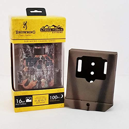 Browning Strike Force Extreme Trail Camera and Camlockbox Security Bear Box