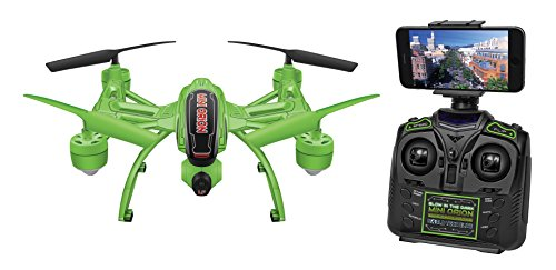 World Tech Toys Glow in the Dark Mini Orion Spy Drone Live View 2.4GHz 4.5 CH Picture/Video Camera RC Quadcopter, Glow in the Dark, 12 x 12 x 4