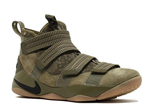Nike Lebron Soldier XI SFG Mens Fashion-Sneakers 897646-200_10.5 - Medium Olive/Black-Black ()