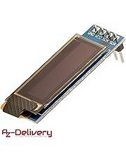 AZDelivery Display OLED 128 x 32 Pixel 0,91 Pollici I2C per Arduino, Raspberry Pi con eBook