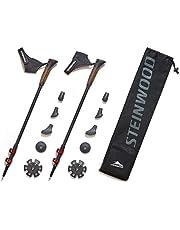 Exel Nordic Trainer Adjustable 50/% Carbon Walking Poles Sticks