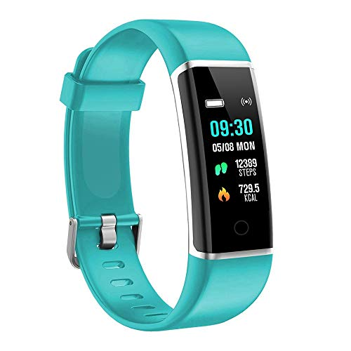 moreFit Fitness Tracker, Solo Waterproof Exercise Watch Active Sleep Alarm Monitors Pedometers for Walking, Steps Miles Calories GPS Counter, Smart Wristband Bracelet for Women Kids Men (Green)