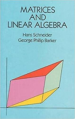 Matrices and Linear Algebra (Dover Books on Mathematics): Hans ...