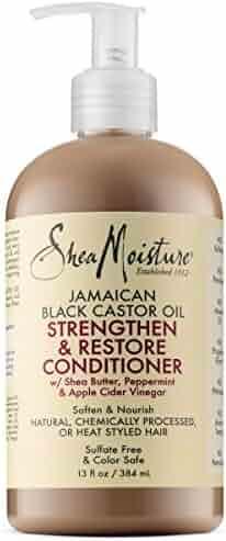 Shea Moisture Jamaican Black Castor Oil Strengthen & Restore Conditioner, 13 Oz