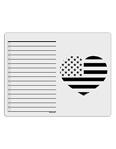 Patriotic Heart Stamp (TooLoud American Flag Heart Design - Stamp Style To Do Shopping List Dry Erase Board)