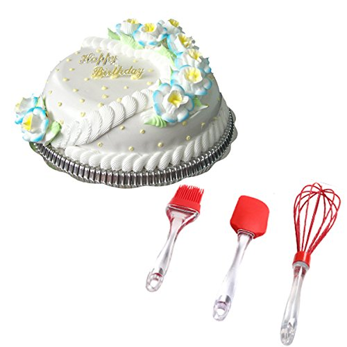 [dipshop 3pcs Home Baking Set Cream Brush Spatulas Eggbreaker Baking Acessaries pastry brushes] (Rolling Dance Costumes Carrier)