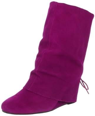Betsey Johnson Women's Burke Boot,Fuchsia Suede,5.5 M US