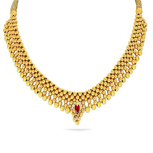 Candere-By-Kalyan-Jewellers-22k-916-Yellow-Gold-and-Ruby-Choker-Necklace-for-Women