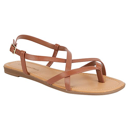 Tan Sandals CLASSIFIED Spica Womens Dark CITY 7Xzqx7