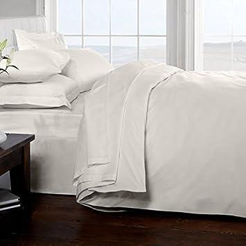 Classique Linens Parure De Lit 100 Coton Egyptien 200 Fils Blanc
