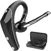 Bluetooth ヘッドセット Bluetooth イヤホン 片耳 5.0 10時間連続使用 ビジネス マイク内蔵 耳掛け型 ハンズフリー通話 CVC8.0ノイズキャンセリング ミュート機能 左右耳兼用 高音質 ブルートゥースヘッドセット...