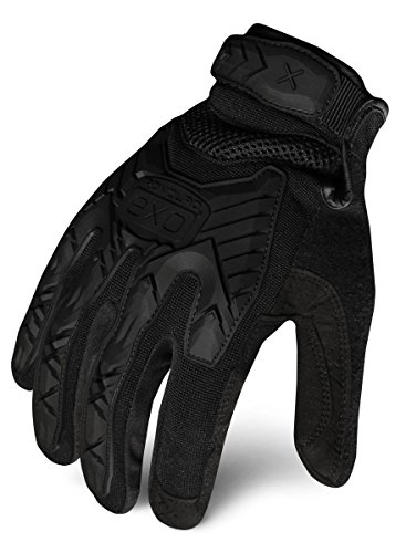 Duty Gloves - Ironclad EXOT-IBLK-04-L Tactical Operator Impact Glove, Stealth Black, Large