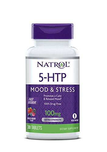 - Natrol 5-HTP Fast Dissolve Tablets, Wild Berry Flavor, 100mg, 30 Count
