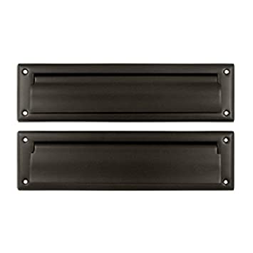 Deltana MS212U10B 13 1/8 Inch Mail Slot With Solid Brass Interior Flap