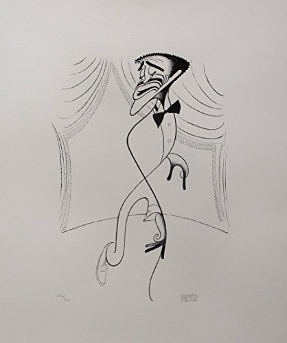 - Wall Art by Al Hirschfeld Sammy Davis Jr. On Stage Hand Signed Limited Edition Lithograph Print. After the Original Painting or Drawing. Paper 18 Inches X 15 In Mint Condition