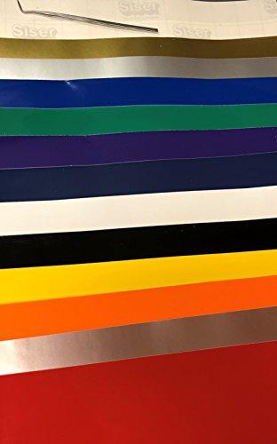 Adhesive Self Permanent (Siser Top 12 Colors of EasyPSV Permanent Craft Vinyl 12