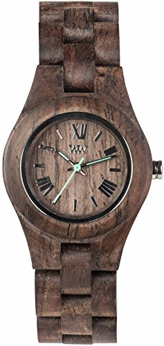 WeWood Criss Rough Indian Rosewood Wood Watch - Chocolate