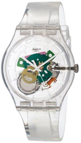Swatch Men's Originals SUOK111 Clean White Plastic Swiss Quartz Watch