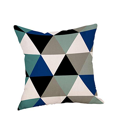 LOKODO Cushion Cover Happy Christmas Pillow Cases Linen Sofa Cushion Cover Home Decor Pillow Case