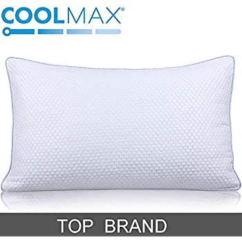 homentality King Cooling Shredded Memory Foam Bed Pillow for Sleeping- Adjustable to Thick Thin - Pillow for Side Back Sleepers with Cool Breathable Cotton Case - Soft Firm Support for Neck Pain