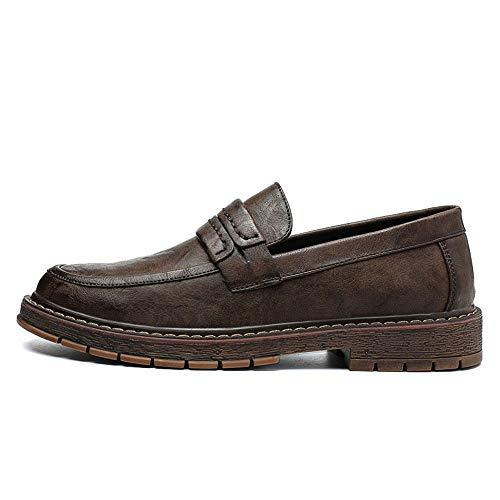 EU con Formales Color Marrón Calzado tamaño Zapatos de Exterior Pedal Oxford Suela Negro Ofgcfbvxd Plano 42 Respirable Negocios Hombre holgazán clásica de Casual un nSxSzqBwPg