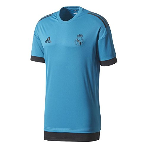 adidas Real Madrid UCL Training Jersey 2017/18 (Teal)-Medium Adults