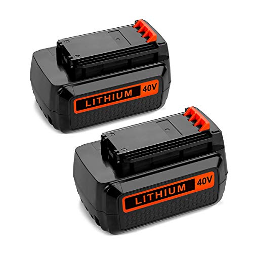 2 Pack 40 Volt MAX 2.5Ah LBXR36 Replacement Battery for Black&Decker LBX2040 LBXR36 LBX36 LBXR2036 40V Lithium Ion Batteries