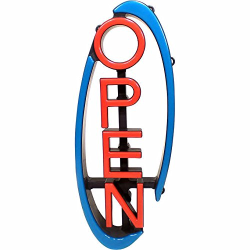 Mystiglo Large Swivel Multi-Directional Open Business Sign w/Remote - Hang Horizontal or Vertical