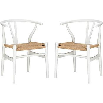 Poly And Bark Wegner Wishbone Style Chair, White, Set Of 2
