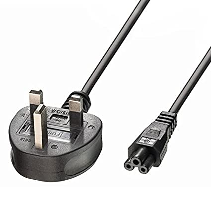 42LN5400 2m HP UK Mains 3 Pin AC Wall Power Cord C5 Cable for Acer Trio // LG 32LN520B Helix // Asus Rog Sony Vaio Yoga IdeaPad X1 42LB5800 Edge Delta // Lenovo ThinkPad 42LB5600 Dell