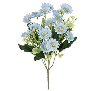 B Blesiya Fake Flower - Artificial Chrysanthemum Daisy - Fabric Flowers - Wedding Home Office Decoration 24