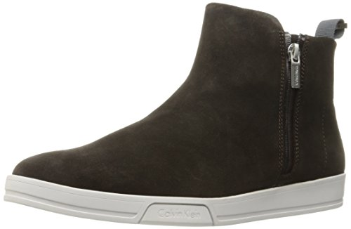 Calvin Klein Men's Barkley Suede Slip-On Loafer, Dark Brown, 8.5 M US by Calvin Klein
