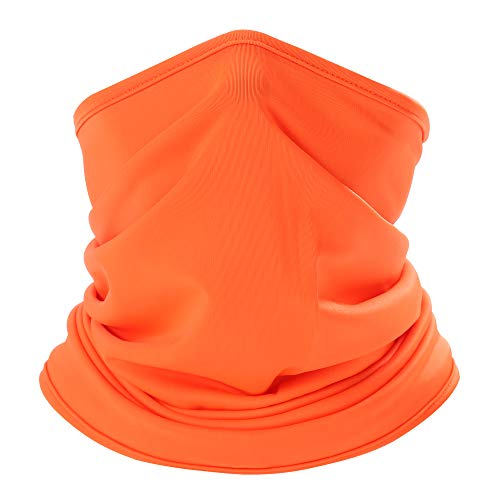 - AXBXCX Lightweight Neck Gaiter Neck Warmer Face Mask Windproof Anti-UV Protection for Motorcycle Cycling Fishing Hunting Summer Outdoor Sports Suitable for Men Women Army Orange