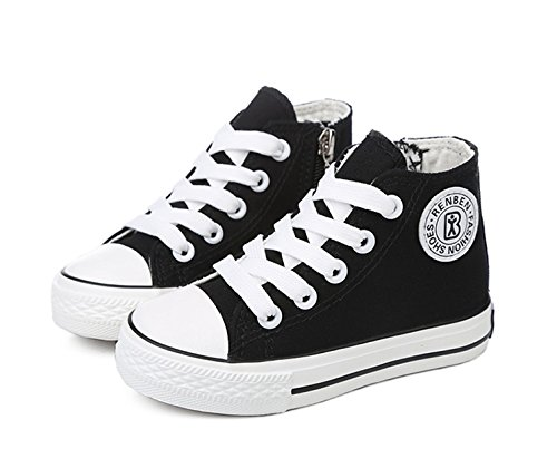 GZYIBU Classic Kids Casual Comfort Zipper Lace up High Top Canvas Shoes (Toddler/Little Kid/Big Kid)