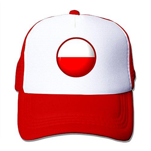 Bandera de Polonia Nylon Adultos Gorra Plana Sombrero