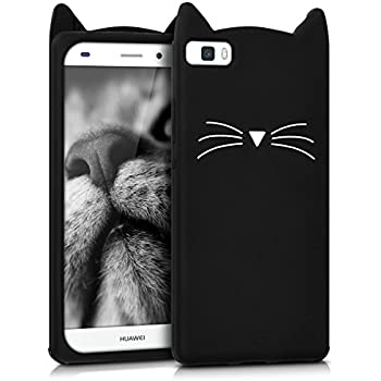 Amazon.com: Huawei P8 Lite Caso, MC Fashion Cute 3d Negro ...