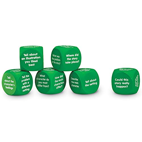 Learning Resources Retell A Story Cubes, 6 Foam Cubes, Reading & Listening comprehension, Set of 6, Grades 1+, Ages 6+