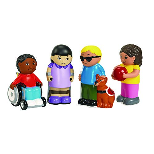Discount School Supply Excellerations Washable Soft Inclusive Special Needs Dolls Set of 4 (Item # Include)