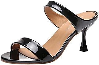 Ginli Sandali,Scarpe Donna Sandali Bassi Donna Estivi Moda Donna Pesce Bocca Sandali alla Caviglia Tacchi Alti Scarpe Aperte Partito Punta